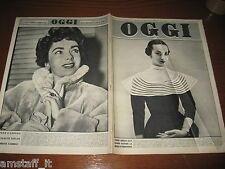 RIVISTA OGGI 1952/10=MODA PARIGI=ELIZABETH TAYLOR=MICHAEL WILDING=