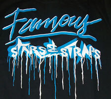 NEW FAMOUS STARS AND STRAPS  graphic tee SHIRT black blue men sz small