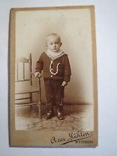 Wittenberg - stehender kleiner Junge - Matrosen-Look - Portrait / CDV