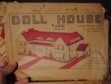 RARE 1925 Dollhouse Kit Paper Cardboard Toy Doll House
