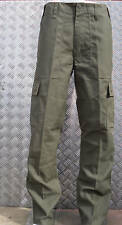 "Green Military Style Combat Cargo / Utility / Field Trousers Size 42""-46"" - NEW"