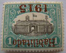 Dominican Republic Stamp 1915 Scott 195a 02b  Upside Down Overprint Unused