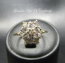 18K Gold 18ct Gold Diamond Cluster Ring Size M 3g 0.87 carats