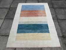 Tribal HAND MADE Afghan Contemporary Gabbeh wool colourful Rug 180x130cm 6'x4'4""