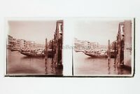 Venezia Italia Foto Amateur Placca Da Lente N3 Stereo Ca 1920
