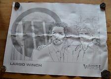 Grand ex-libris (80 x 60 cm) Largo Winch NetB sur papier type Canson, 2008