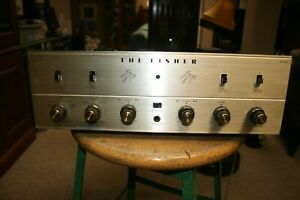 Recapped  FISHER KX-100 Stereo Integrated Tube Amplifier.
