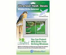 Window Alert Decal Static Cling HAWKS, Birds 2 per Package Protect Birds USA