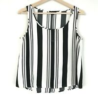 Theory Womens Striped Black And White Tank Top Size Small