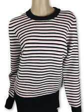 Jonathan Saunders New Wool Sweater Size Large Pink & Black StripeMSRP $850
