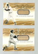 2001 UD SP Game Bat Edition Piece of the Game Complete 58 Card GU Bat Set w/ SPs