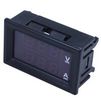 2X(Dc0-100V 10A Led Dc Doppel Anzeige Digital Spannungsmessung Stromzähler O7C1