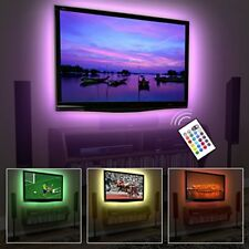 TV EveShine LED Bright Light Strip Decor Neon w Remote Control USB All Colors 1M