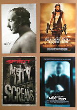 FOUR MINI MOVIE POSTERS ~ SAW V; RESIDENT EVIL;THE SPIRIT;MIDNIGHT MEAT TRAIN