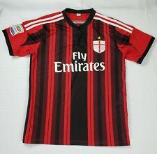 AC Milan Home Soccer Jersey Men's Small Italian Football Short Sleeve