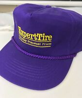"""ExpertTire """"every day discount price"""" VTG Trucker Hat Purple Snapback Rope front"""