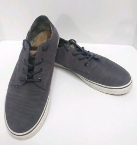 Tommy Bahama 10.5 Dune Drifter Denim Mens Lace Up Shoes Gray Low Top Boat Beach