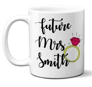 Future Mrs Wedding Fiance Wife To Be Love Romantic Coffee Mug Gift 11oz Ceramic