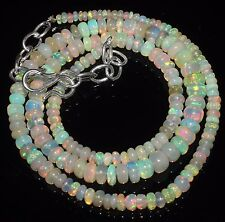 "46 Ctw 1Necklace 2to5.5mm17""Beads Natural Genuine Ethiopian Welo Fire Opal RR570"