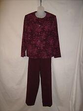 Sag Harbor, Ladies two Piece Maroon Suit, Size 14