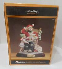 "Flambro Emmett Kelly Jr Collection Figurine ""Spirt Of Christmas Vii"" 1591 of 350"