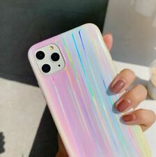 Rainbow Colors Laser Aurora Case For iPhone 11 Pro Max X XS Max XR 6 6S 7 8 Plus