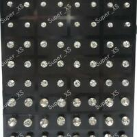 216pcs Stainless Steel Rhinestone Stud Earrings Wholesale Jewelry Mixed Lots