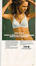 PUBLICITE ADVERTISING 035  1973  LADY  soutien gorge ANGE sous vetements