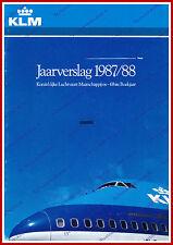 ANNUAL REPORT - KLM ROYAL DUTCH AIRLINES 1987-1988 - DUTCH