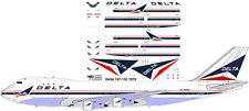 Delta delivery livery Boeing 747-100 decals for Revell 1/144 kit