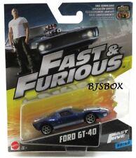 Mattel Fast & Furious Ford GT-40 Blue Fast Five #32/32 New NIP HTF