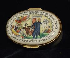 "Bilston Battersea ""First Signatory - Declaration of Independence"" Trinket Box LE"