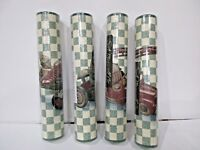 "Lot of 4 S A Maxwell Co Vinyl Border Packs 5 Yds X 9"" Wide Vintage Airplane &Car"