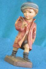 "Anri Hand Carved Wooden 4 1/2"" Figurine - Hobo Boy"