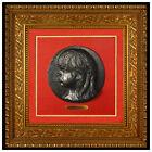Pierre Auguste Renoir Bronze Sculpture Wall Relief Medallions de Coco Signed Art
