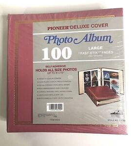 Vintage 1990 Pioneer Deluxe Cover 3-Ring Photo Album TR100 Magnetic Pages USA