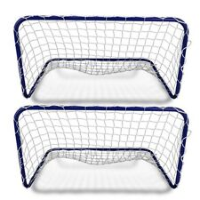 Set 2 Ports with nets football 78x56x45 cm for children outdoor use penalty area...