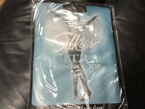 👠New Pair Silkies Size XXL(Queen) Ultra Control Top Tights Barely black Sheer🌼