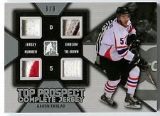 2014 ITG Draft Prospects AARON EKBLAD Complete Jersey Quad Patch Rare SP RC #9/9