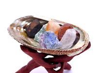 Meditation Set w/ Abalone Shell Tripod Stand Sage Incense Kit 7 Chakra Stones