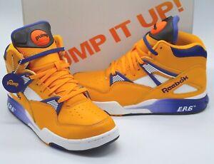 New Reebok The Pump Omni Zone ERS Retro The Lakers Gold/Violet/White sz 8 RARE