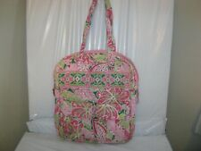 VERA BRADLEY Large Pinwheel Pink TALL ZIP TOTE Bag 12 x 13.5 x 3 GUC