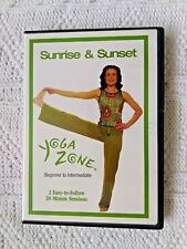 YOGA ZONE –SUNRISE AND SUNSET- BEGINNER TO INTERMEDIATE- DVD, R-1, LIKE NEW