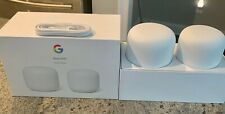 Google - Nest Wifi AC2200 Mesh System Router and Point (2-Pack) - Snow