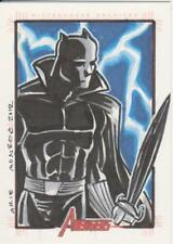 Marvel Greatest Heroes 2012 -  Color Sketch Card by Monroe - Black Panther