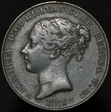More details for 1861   jersey victoria 1/13 of a shilling   copper   coins   km coins