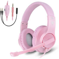 Headset Gaming for PC PS4 Mac Xbox One Controller Wired Headphones w/ Microphone