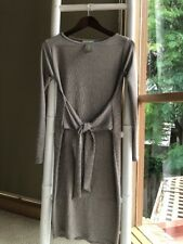 Lovely HOSS Pearl Tie Front Long Sleeves Bodycon Shift Dress Sz 8 S NWT
