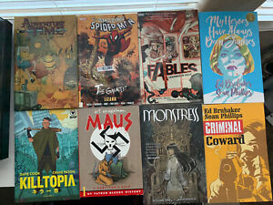 TPB Trade Paperback Lot (Spider-Man, Fables, Maus, Criminal, Monstress, Etc.)
