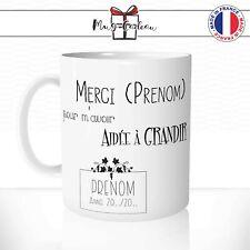 Mug Merci Maîtresse Maître Prénoms à Personnaliser - Tasse - Idée Cadeau Café